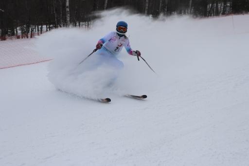 Jessica Cobb skiing